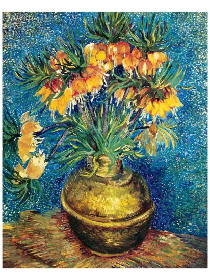 Crown Imperial Fritillaries in a Copper Vase, c.1886-Vincent van Gogh-Premium Giclee Print