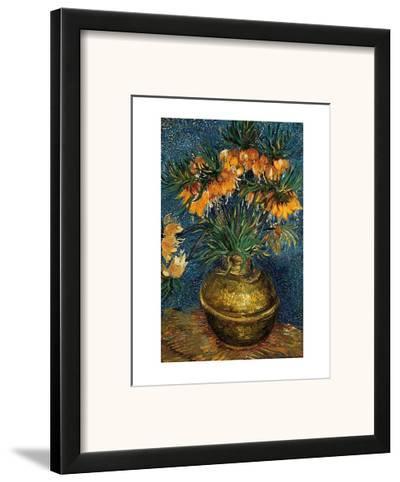 Crown Imperial Fritillaries in a Copper Vase, c.1886-Vincent van Gogh-Framed Art Print