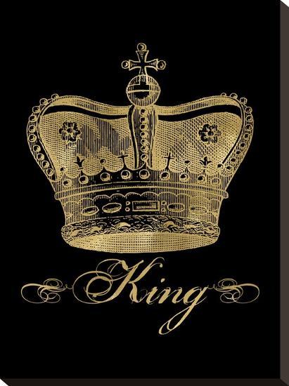 Crown King Golden Black-Amy Brinkman-Stretched Canvas Print