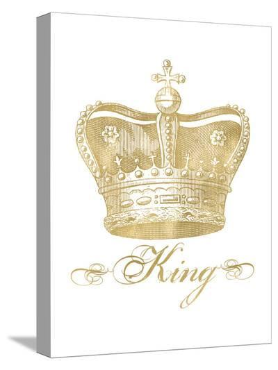 Crown King Golden White-Amy Brinkman-Stretched Canvas Print