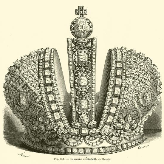Crown of Elizabeth of Russia--Giclee Print