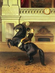 Crown Prince Rudolph of Austria (1858-89) on Horseback in the Winter Riding School of the Hofburg