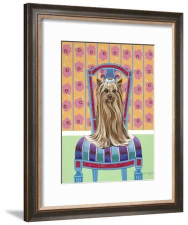 Crown Princess Yorkie-Carolee Vitaletti-Framed Art Print