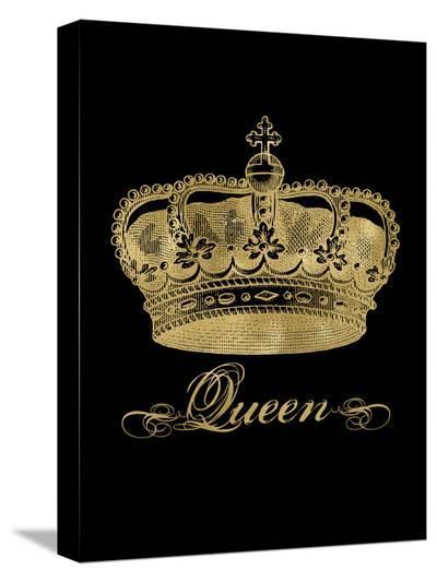 Crown Queen Golden Black-Amy Brinkman-Stretched Canvas Print