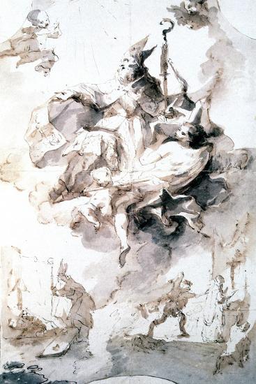 Crowning Glory of Saint Stanislas, C1744-1796-Franz Anton Maulbertsch-Giclee Print