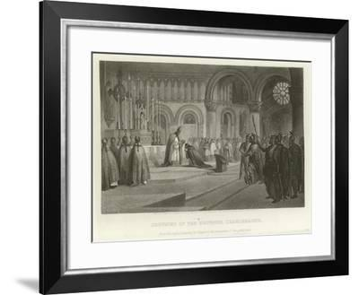 Crowning of the Emperor Charlemagne-Alonzo Chappel-Framed Giclee Print