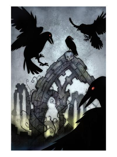 Crows-Harry Briggs-Giclee Print