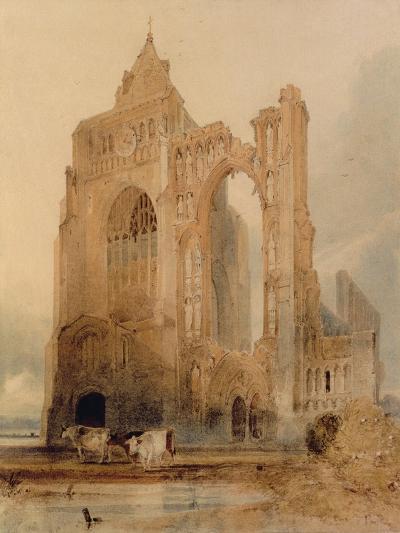 Croyland Abbey, Crowland-John Sell Cotman-Giclee Print