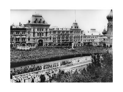 Crucession with the Tsar's Family in Red Square, Moscow, Russia, 1912-K von Hahn-Giclee Print