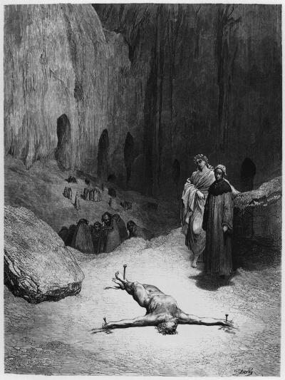 """Crucified Man, Illustration from """"The Divine Comedy"""" by Dante Alighieri Paris, Published 1885-Gustave Dor?-Giclee Print"""