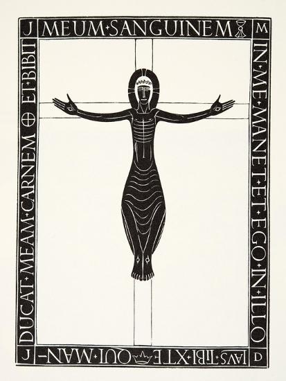 Crucifix, 1919-Eric Gill-Giclee Print