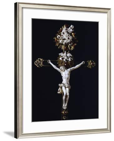 Crucifix, Detail from Silver-Gilt Altarpiece with White and Green Jade Crucifix--Framed Giclee Print