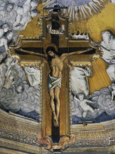 Crucifix in Cathedral of Enna--Giclee Print