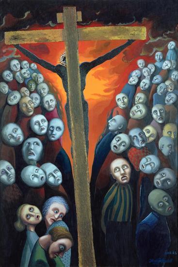 Crucifixion, 1998-Dinah Roe Kendall-Giclee Print