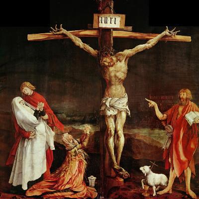 Crucifixion, a Panel from the Isenheim Altar, Limewood (Around 1515)-Matthias Gr?newald-Giclee Print
