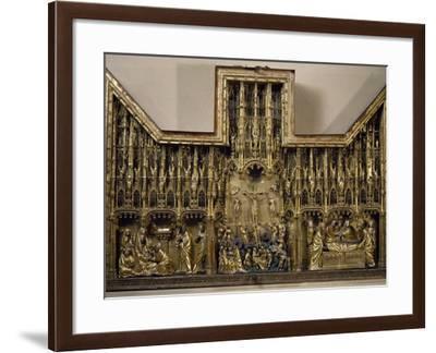 Crucifixion Altarpiece--Framed Giclee Print