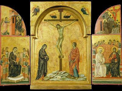 Crucifixion Altarpiece-Duccio di Buoninsegna-Photographic Print