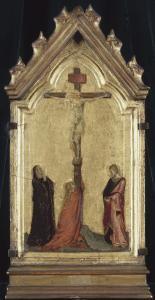 Crucifixion avec Madeleine, la Vierge et saint Jean