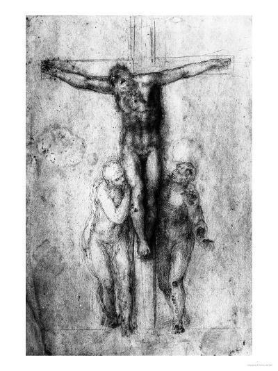 Crucifixion, British Museum, London-Michelangelo Buonarroti-Giclee Print