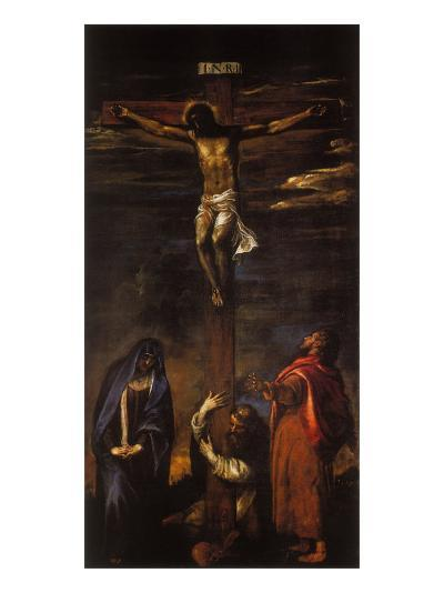 Crucifixion (Christ on the Cross with the Virgin, St John and St Dominic)-Hans Maler-Giclee Print