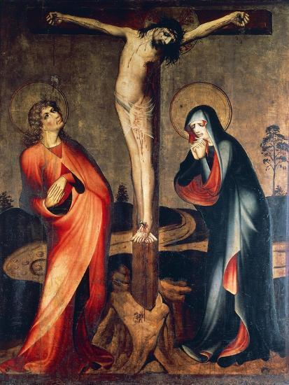 Crucifixion of Christ with Mary and St. John, Circa 1400--Giclee Print
