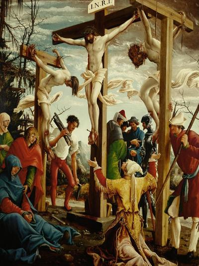Crucifixion, Right Outer Wing of the Sebastian Altar, Spruce Wood (Before 1518)-Albrecht Altdorfer-Giclee Print