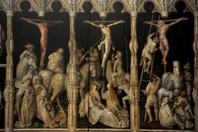 Crucifixion with Saints Coloman, Quirin, Castor and Chrysogonus, Ca. 1440-Gabriel Angler-Giclee Print