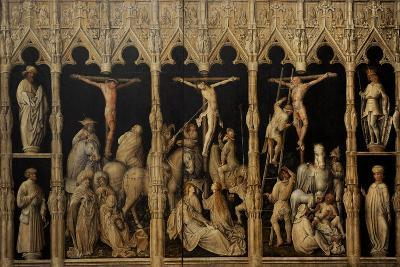 Crucifixion with Saints Coloman, Quirin, Castor and Chrysogonus, Ca. 1440-Gabriel Angler-Giclee Print