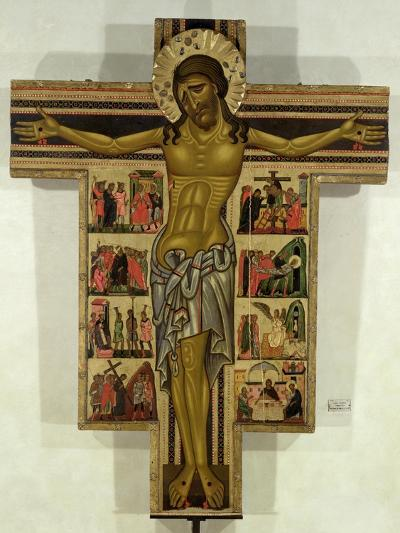 Crucifixion with Stories of the Passion, School of Lucca--Giclee Print
