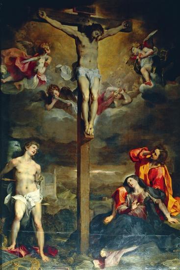 Crucifixion with Virgin and Saints, 1596-Federico Fiori Barocci-Giclee Print