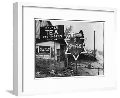 Cruel Display of Racist Condescension in the Land of Segregation-Margaret Bourke-White-Framed Premium Photographic Print