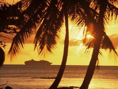 Cruise Liner, Caribbean-John Miller-Photographic Print