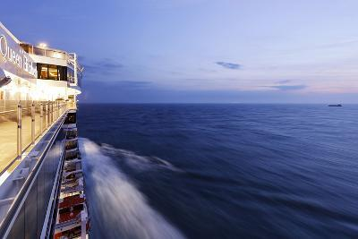 Cruise Ship at Full Speed, the North Sea, Evening, Dusk-Axel Schmies-Photographic Print