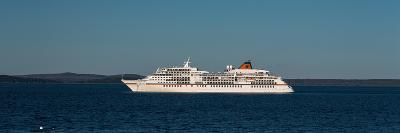 Cruise ship in Atlantic ocean, Bar Harbor, Mount Desert Island, Hancock County, Maine, USA--Photographic Print