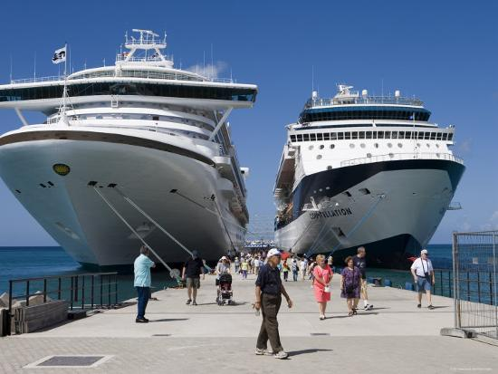 Cruise Ships Golden Princess and Constellation, St. George's, Grenada-Holger Leue-Photographic Print