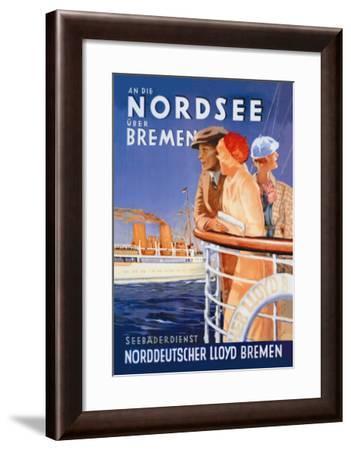 Cruise to the North Sea Via Bremen--Framed Art Print