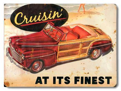 Cruisin'--Wood Sign