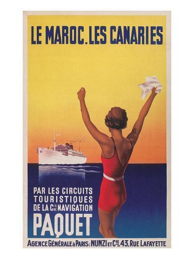 Cruising the East Atlantic, Travel Poster--Art Print