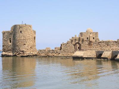 Crusader Sea Castle, Sidon, Lebanon, Middle East-Wendy Connett-Photographic Print