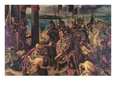 Crusaders Entering Constantinople-Eugene Delacroix-Art Print