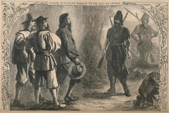 'Crusoe Discovers Himself To The English Captain', c1870-Unknown-Giclee Print