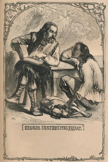 'Crusoe Instructing Friday', c1870-Unknown-Giclee Print