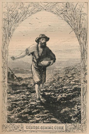 'Crusoe Sowing Corn', c1870-Unknown-Giclee Print