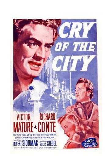 Cry of the City, Victor Mature, Richard Conte--Giclee Print