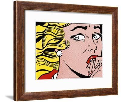 Crying Girl, c.1963-Roy Lichtenstein-Framed Art Print