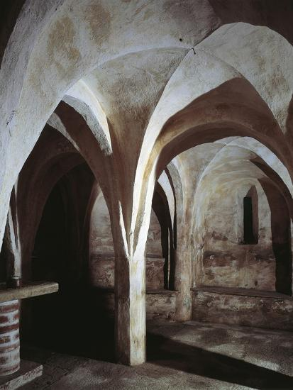 Crypt of a Church, Basilica of St. Michael, Oleggio, Piedmont Region, Italy--Photographic Print