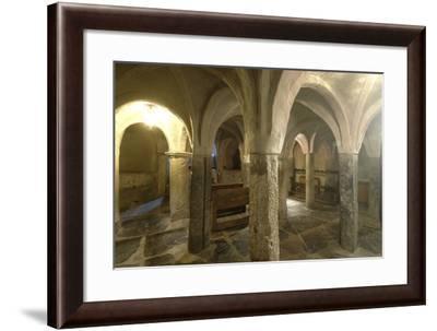 Crypt of Collegiate Church of Saint Orso, St Ursus Cloister, Aosta, Valle D' Aosta, Italy--Framed Photographic Print