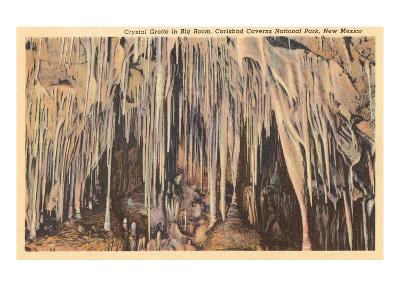 Crystal Grotto, Carlsbad Caverns, New Mexico--Art Print