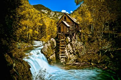 Crystal Mill Is an Old Ghost Town High Up in the Hills of the Maroon Bells, Colorado-Brad Beck-Photographic Print