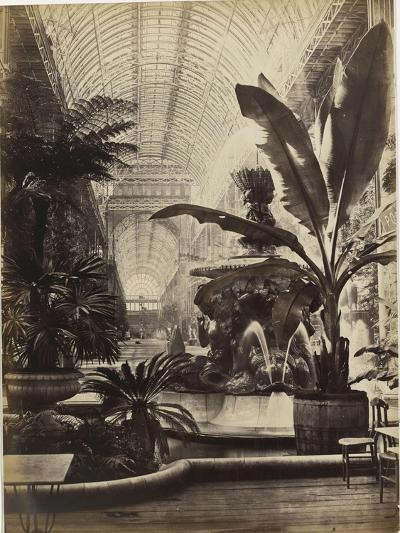 Crystal Palace : Montis Fountain and nave looking South (fontaine Montis et nef vue du sud)-Joseph Warren Zambra-Giclee Print